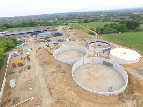 Biogaz plant gaec hulmer