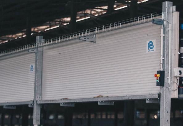 Barriere per impianto di ventilazione e bagnatura