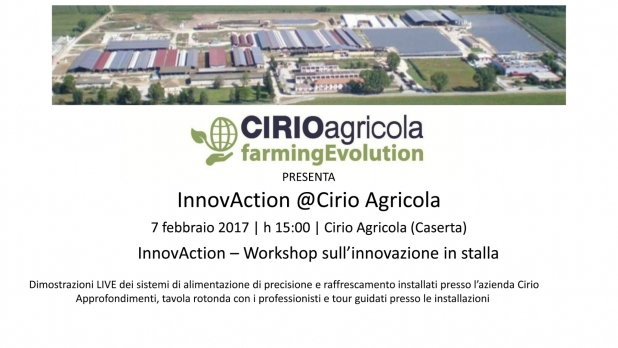 Rota Guido illustrera' il nuovo sistema di ventilazione artificiale installato a Cirio Agricola